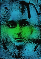 Kali, PSC. Mary, Blue, Bluegreen, Palm Springs, CA, 1968