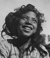 Andre de Dienes, Arab Girl in an Oasis, 1935 (Tunisia or Algeria)