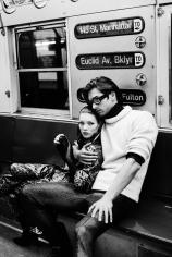 Stephanie Pfriender Stylander, Kate Moss and Marcus Schenkenberg (The Revolution), New York, Italian Harper's Bazaar, 1992