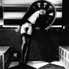 Helmut Newton, Violetta at the Bains-duches, Paris, 1979