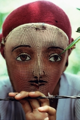 Susan Meiselas, Traditional Indian dance mask from the town of Monimbo, adopted by the rebels during the fight against Somoza to conceal identity, Monimbo, Nicaragua, 1978