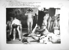 Deborah Turbeville, For Charles Jourdan: Candy Pratt, Betsey Johnson, Tia, Beverly Morgan, Mary Martz, and Christa in clothes by Betsey Johnson, Woolf Form Dummy Factory in New York, 1974
