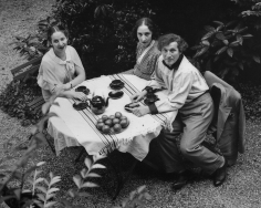André Kertész, Marc Chagall, his wife Bella, and unknown friend or family member, 1933