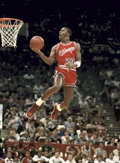 George Kalinsky, Rookie Air: Michael Jordan, Madison Square Garden, 1989