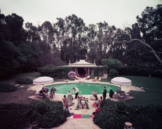 Slim Aarons, Scone Madame?, circa 1960: Guests gather around pool at home of interior decorator James Pendleton