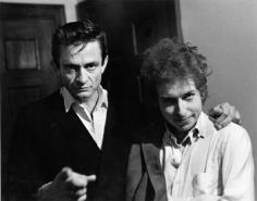 Daniel Kramer, Bob Dylan and Johnny Cash Backstage, New Brunswick, New Jersey, 1965