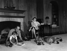 Sid Avery, Humphrey Bogart, Lauren Bacall, and son Stephen Bogart, Los Angeles, California, 1960