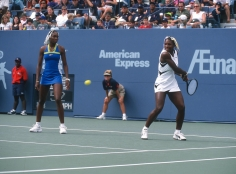 Ron Galella, Venus Williams and Serena Williams, U.S. Open, 1998