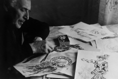 Alexander Lieberman, Marc Chagall in his studio, 1950s