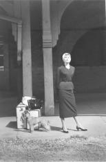 "Dennis Stock, Audrey Hepburn at Train Station, from ""Sabrina"", 1954"