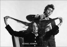 Daniel Kramer, Bob Dylan Ironing Joan Baez's Hair, New Haven, Connecticut, 1965