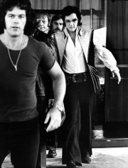 Ron Galella Elvis Presley and his fifteen bodyguards leaving the Hilton, Philadelphia, June 25, 1974