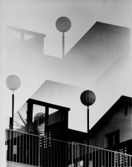 Kali, Globes Architecture Black and White, Palm Springs, CA, 1970