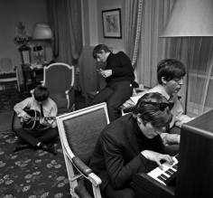 Harry Benson, The Beatles Composing I, George V Hotel, Paris, France 1964