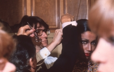 Harry Benson, Yves St. Laurent and Kirat Young, 1977