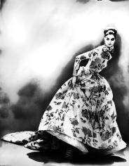 Lillian Bassman, Night Bloom: Anneliese Seubert in Christian Dior Haute Couture, Paris. The New York Times Magazine, 1996