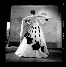 Louise Dahl-Wolfe Panorama of Paris: Suzy Parker in a Jacques Fath Gown, 1953