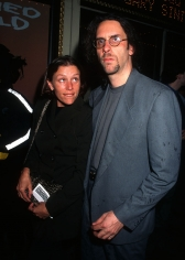 Ron Galella, Frances McDormand and Joel Coen, 1996