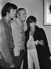 """Ron Galella, Peter Fonda, Henry Fonda and Jane Fonda on Location for """"Our Town"""", New York, 1969"""