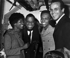 Ron Galella, Cicely Tyson, James Baldwin, and Harry Belafonte, New York, 1969