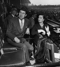 Slim Aarons, Alfred G. Vanderbilt Jr. and his wife Jean Murray Vanderbilt at Belmont Park, New York, circa 1952