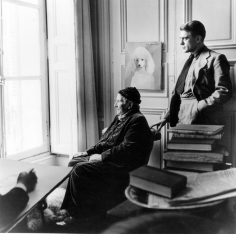 Horst P. Horst, Carl Erickson drawing Gertrude Stein and Horst, Paris, 1946