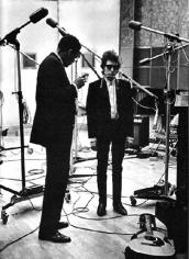 "Daniel Kramer, Bob Dylan With Producer Tom Wilson, ""Bringing it All Back Home"" Recording Session, New York, 1965"