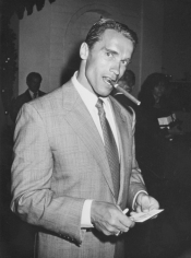 Ron Galella Arnold Schwarzenegger at Chasen's Restaurant, Beverly Hills, California, April 9, 1988