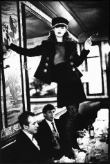 Arthur Elgort, Kate Moss at Café Lipp in Paris, VOGUE Italia, 1993