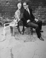 Norman Parkinson, Tom Lehrer and Skeleton, London, 1959