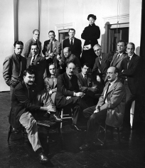 Nina Leen  The Irascibles: Group Portrait of American Expressionists (left to right, from back row: Willem de Kooning, Adolph Gottlieb, Ad Reinhardt, Hedda Sterne; Richard Pousette-Dart, William Baziotes, Jackson Pollock, Clyfford Still, Robert Motherwell; Bradley Walker Tomlin; Theodoros Stamos, Jimmy Ernst, Barnett Newman, James Brooks, and Mark Rothko), New York, 1950
