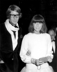 Ron Galella, Yves Saint Laurent and Helene Rochas,