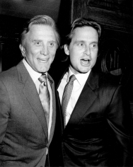 Ron Galella, Kirk and Michael Douglas, Chasen's Restaurant, Beverly Hills, 1983