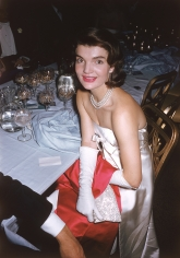 "Slim Aarons, Jacqueline Kennedy at the ""April in Paris"" ball at the Waldorf-Astoria Hotel, New York, 1959"