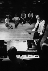 Bob Willoughby, Frank Sinatra rehearsing for his show at the Sands Hotel in Las Vegas, 1960