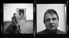 Harry Benson, Francis Bacon at the Metropolitan Museum of Art (Diptych), New York, 1975