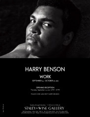 Harry Benson, Exhibition Invitation