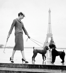 Louise Dahl-Wolfe, Jacqueline in Christian Dior Suit at the Eiffel Tower, Paris, France, 1950s