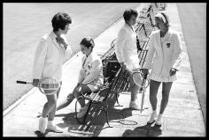 Harry Benson, Billie Jean Moffit King, Nancy Richey, Carole Caldwell Graebner, and Donna Floyd, Wimbledon, 1964