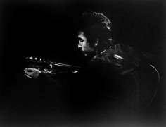 Daniel Kramer, Bob Dylan in Profile with Guitar, Town Hall, Philadelphia, 1964