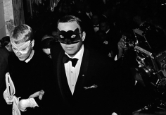 "Harry Benson, Frank Sinatra and Mia Farrow at Truman Capote's ""Black and White"" Ball at the Plaza Hotel, New York, 1966"