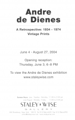 Andre de Dienes, Exhibition Invitation