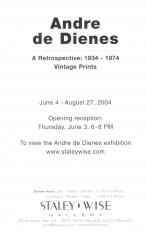 Andre de Dienes, Exhibition Invitation
