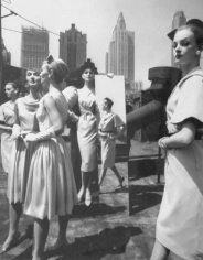 William Klein, Models and Mirrors on Roof, Vogue, New York, 1962