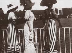 Jacques-Henri Lartigue, Three Women at Races, Auteuil, 1911