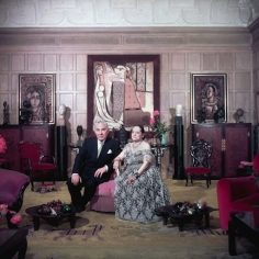 Slim Aarons, Prince Archil Gourielli and Princess Helena Rubinstein in their New York apartment, 1950