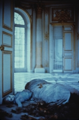 Deborah Turbeville, Autumn leaves inside the Pavillon Francais: Aurelia Weingarten, Unseen Versailles, 1980