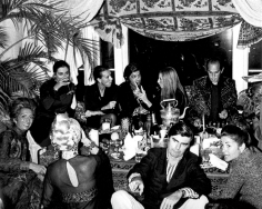 Ron Galella, Barbra Streisand, Valentino, Oscar and Francois de la Renta, and James Brady, Valentino Fashion Show and Party, Pierre Hotel, New York, 1970