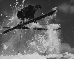 Herbert Matter, Skier in mid-air, circa 1940