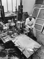Robert Doisneau, La Palette de Jean Dubuffet, 1950